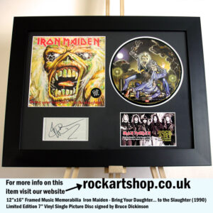 IRON MAIDEN BRING YOUR DAUGHTER VINYL SIGNED BRUCE DICKINSON