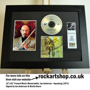 JETHRO TULL AQUALUNG SIGNED IAN ANDERSON AND MARTIN BARRE