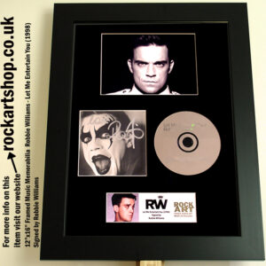 ROBBIE WILLIAMS SIGNED LET ME ENTERTAIN YOU AUTOGRAPHED CD
