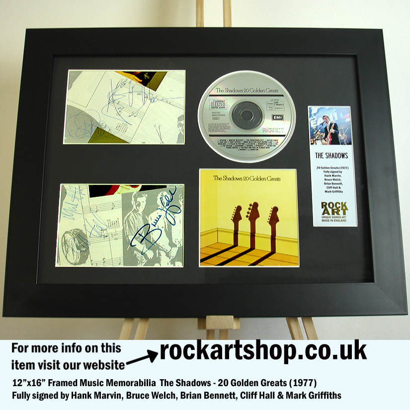 THE SHADOWS FULLY SIGNED HANK MARVIN BRUCE BRIAN CLIFF MARK
