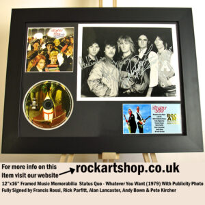 STATUS QUO SIGNED FRANCIS ROSSI RICK PARFITT ALAN ANDY PETE