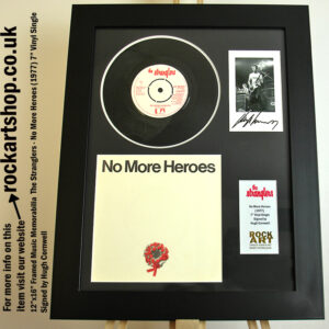 THE STRANGLERS NO MORE HEROES VINYL SIGNED HUGH CORNWELL