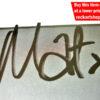 Mat Osman Autograph