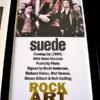 Suede Autographed Music Memorabilia