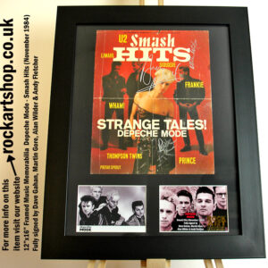 DEPECHE MODE SIGNED DAVE GAHAN MARTIN ANDY ALAN 1984 AUTOGRAPHED