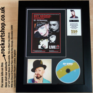 BOY GEORGE SIGNED THIS IS WHAT I DO AUTOGRAPHED MEMORABILIA