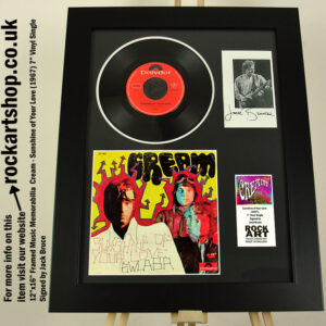 CREAM SUNSHINE OF YOUR LOVE JACK BRUCE SIGNED MUSIC MEMORABILIA