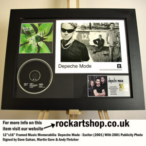 DEPECHE MODE EXCITER SIGNED DAVE GAHAN MARTIN ANDY 2001 PHOTO