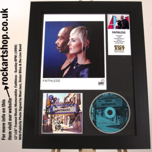 FAITHLESS SUNDAY 8PM SIGNED SISTER BLISS MAXI JAZZ AUTOGRAPHED