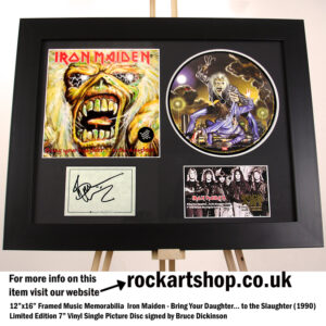 IRON MAIDEN SIGNED BRUCE DICKINSON BRING YOUR DAUGHTER VINYL