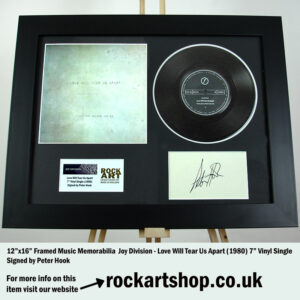 JOY DIVISION SIGNED PETER HOOK LOVE WILL TEAR US APART VINYL