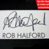 ROB HALFORD Autograph