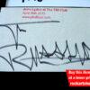 Johnny Rotten Autograph