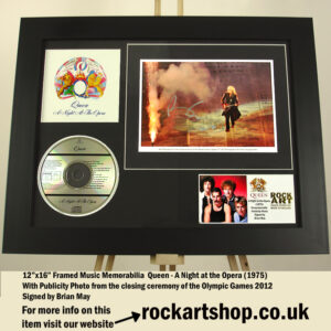 QUEEN SIGNED BRIAN MAY A NIGHT AT THE OPERA AUTOGRAPHED PHOTO