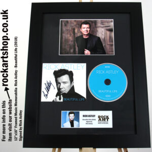 RICK ASTLEY SIGNED BEAUTIFUL LIFE AUTOGRAPHED FRAMED
