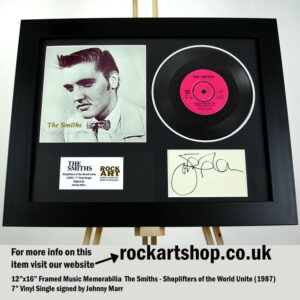 THE SMITHS SIGNED JOHNNY MARR SHOPLIFTERS OF THE WORLD VINYL