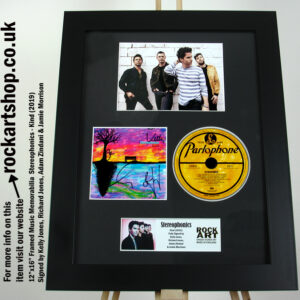 STEREOPHONICS KIND FULLY SIGNED KELLY JONES RICHARD ADAM JAMIE