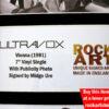 Ultravox Signed Music Memorabilia