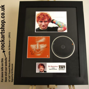 ED SHEERAN SIGNED +CD A TEAM AUTOGRAPHED MUSIC MEMORABILIA