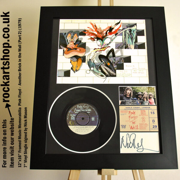 PINK FLOYD THE WALL VINYL NICK MASON SIGNED MUSIC MEMORABILIA