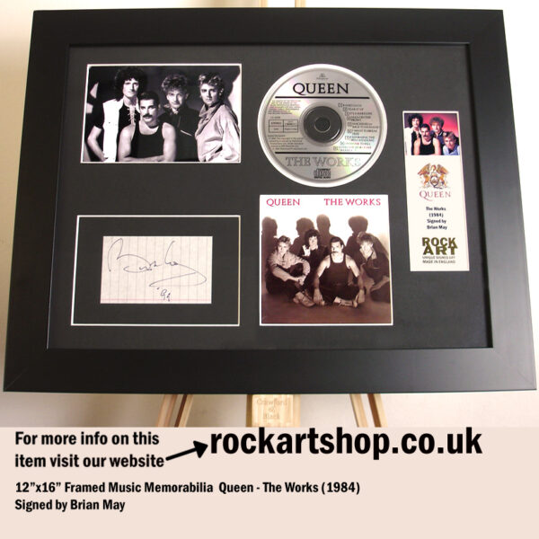 QUEEN THE WORKS AUTOGRAPHED BRIAN MAY SIGNED MUSIC MEMORABILIA