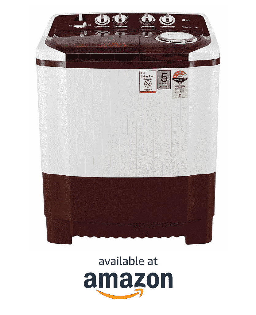 LG 7 kg 4 Star P7015SRAY best semi automatic washing appliance in India