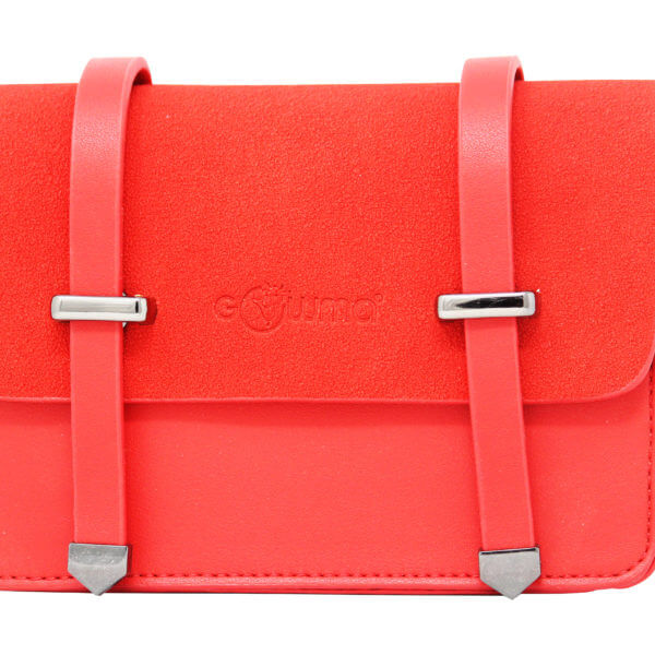 VEGAN CROSS BODY- CLUTCH BAGS-LIFESTYLE INTERNATIONAL LIITED .JPG1 RED.JPG 1