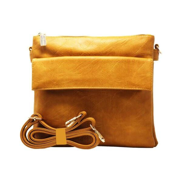 Vegan cross body bag -Lifestyle International Limietd, www.lifestyleint.co.uk, yellow
