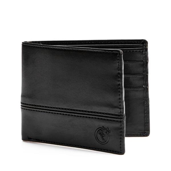 vegan stitch wallet bkack-LIFESTYLE INTERNATIONAL LIMITED