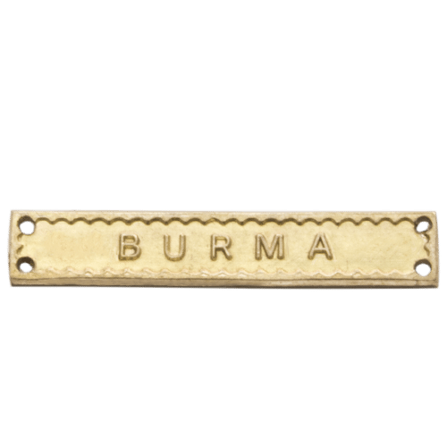 Burma Clasp World War 2