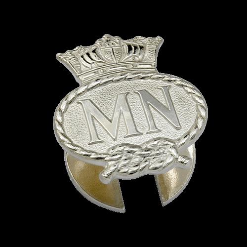 Merchant Navy Silver Lapel Badge