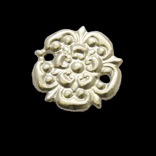 Silver Rosette Medal Emblem