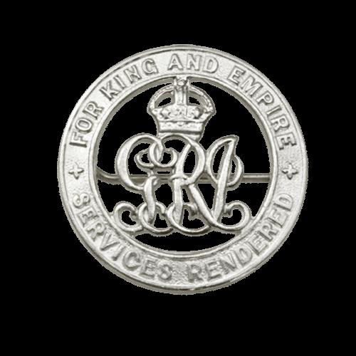 Silver War Badge World War 1 Wound Badge