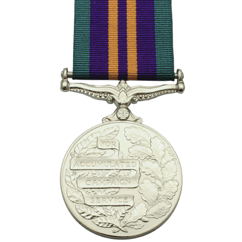Accumulated Campaign Service Medal 2011 Reverse