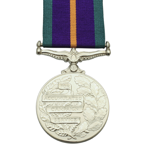 Accumulated Campaign Service Medal Reverse