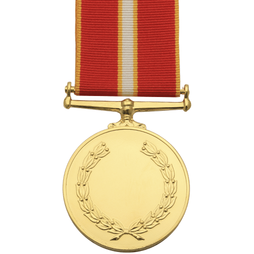 Active Service Medal Commemorative Reverse