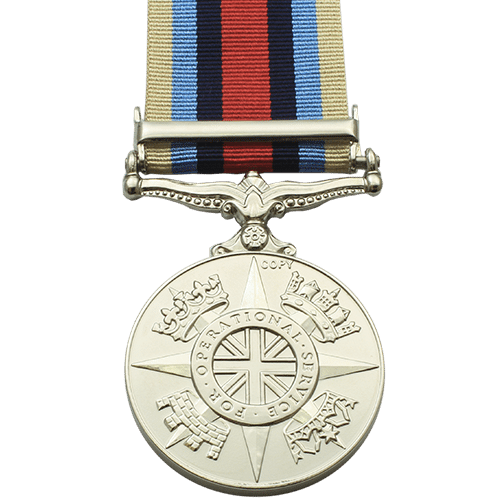 Afghanistan Operational Service Medal OSM with Clasp Reverse