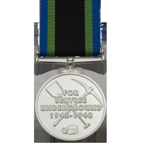 Bevin Boys Medal Commemorative Reverse