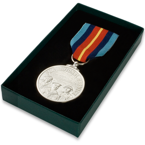 National Service Medal Commemorative Boxed