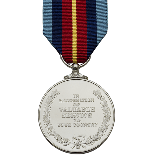National Service Medal Commemorative Reverse