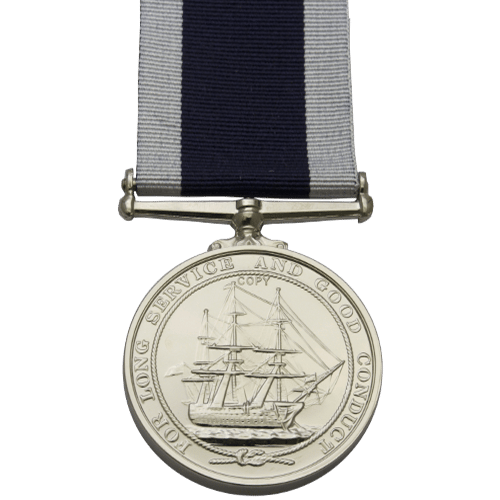 Royal Naval Long Service And Good Conduct LSGC Medal Reverse
