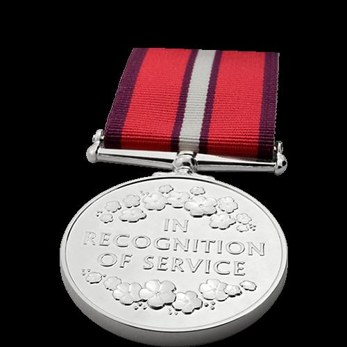 Womens Service Medal Commemorative Reverse