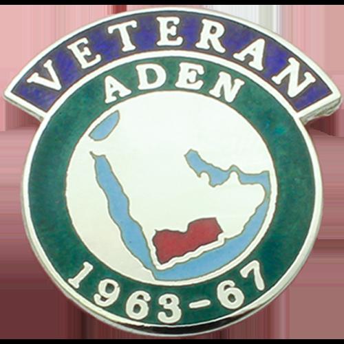 Aden Veterans Badge Enamelled