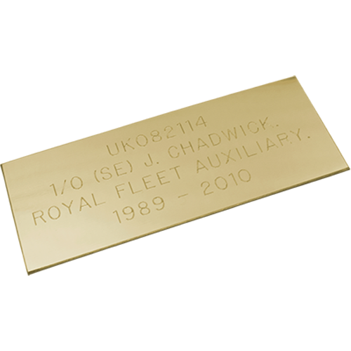 Brass Effect Plaque