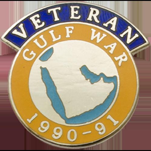 Gulf Veterans Badge Enamelled