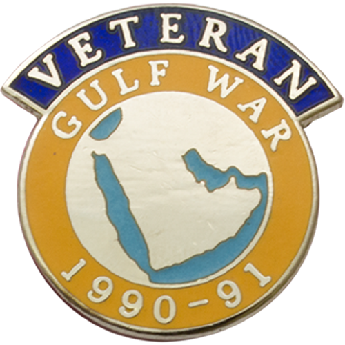 Gulf Veterans Badge Enamelled