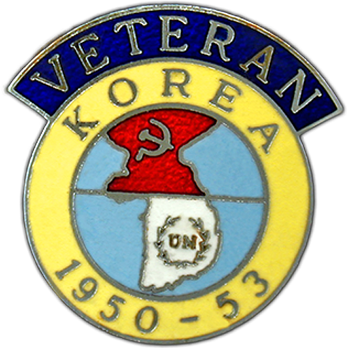 Korea Veterans Badge Enamelled