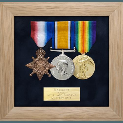 Medal Display Frame Three Medals