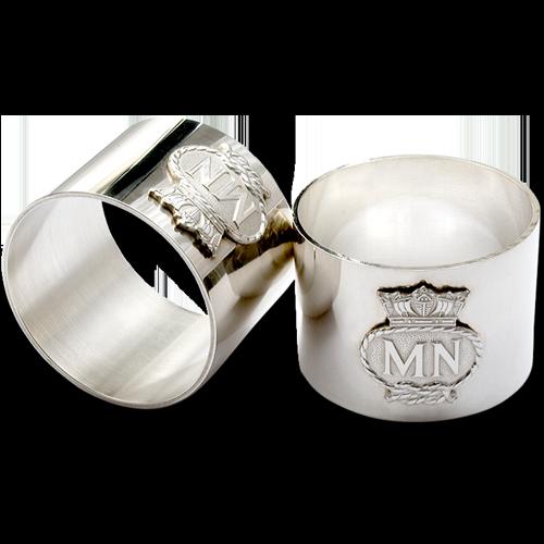 Merchant Navy Serviette Rings Silver