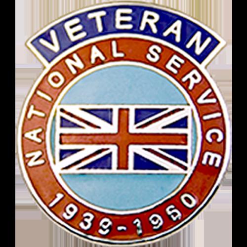 National Service Veterans Badge Enamelled